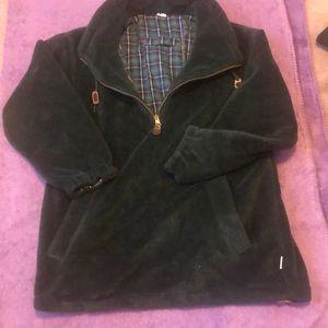 VINTAGE unisex fleece sweater & flannel interior
